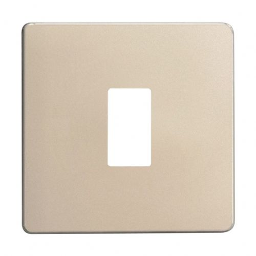 Varilight XDNPGY1S Screwless Satin Chrome 1 Gang PowerGrid Plate (Single Plate)
